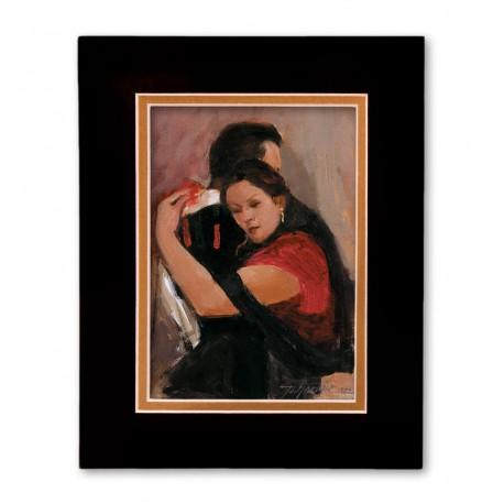 """""""Gracias Por Tanto Amor - Thank You For So Much Love"""" Matted Print, art by Israel Martinez"""