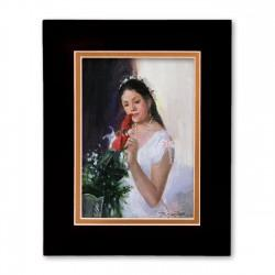 """Quinceañera - when the girl turns 15"" Matted Print, art by Israel Martinez"