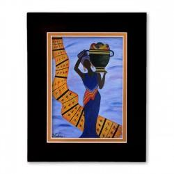 """Bearing Fruit"" Matted Print, art by Gloria Lovelady"