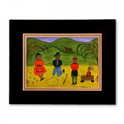 """Plain Ole Country Fun"" Matted Print, art by Gloria Lovelady"