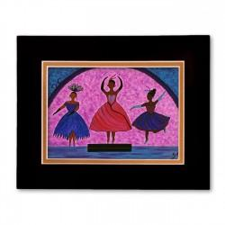 """""""Love Enters In"""" Matted Print, art by Gloria Lovelady"""