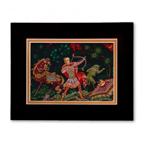 """Ivan Sarevich"" Matted Print with Artwork of Russian Lacquer Boxes"