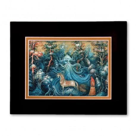 """""""Morozko"""" Matted Print with Artwork of Russian Lacquer Boxes"""