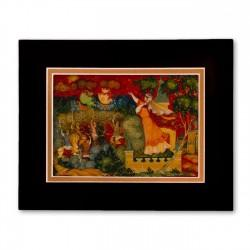 """Unknown"" Matted Print with Artwork of Russian Lacquer Boxes"