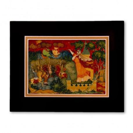 """""""Unknown"""" Matted Print with Artwork of Russian Lacquer Boxes"""