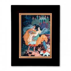 """Ruslan and Lumilla"" Matted Print with Artwork of Russian Lacquer Boxes"