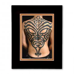 """Tribal Mask"" Matted Print"