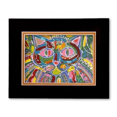 """""""Cat Face"""" Matted Print, art by Tony DiAngelis"""