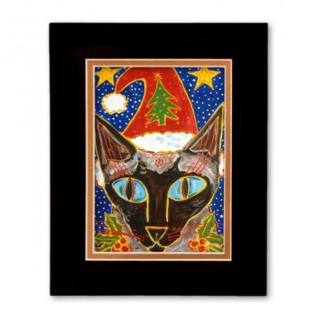 """Yule Tide Mollie"" Matted Print, art by Tony DiAngelis"