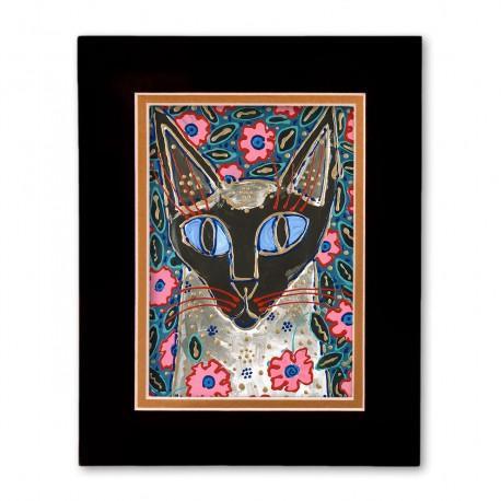 """Flora Katz"" Matted Print, art by Tony DiAngelis"