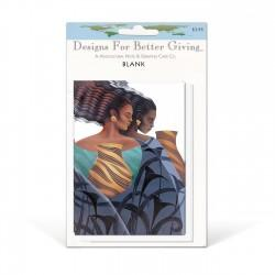 """Sisters"" Blank packaged cards, artwork by Keith Mallet"