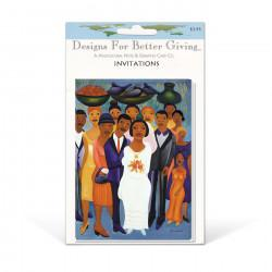 """Garden Wedding"" Invitation packaged cards, artwork by Fritzner Alphonse"