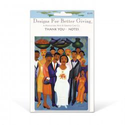 """Garden Wedding"" Thank-you packaged cards, artwork by Fritzner Alphonse"